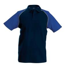 KARIBAN galléros póló, sötétkék/királykék