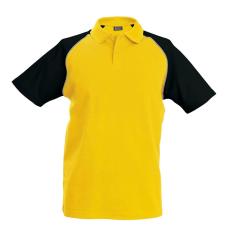 KARIBAN galléros póló, sárga/fekete