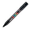 Dekormarker UNI POSCA PC-5M 1.8-2.5 mm, kúpos, FEKETE