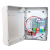 Faac F790285 E012S vezérlés, 2 motorkimenet 12 Vdc/(2x150W) , 24Vdc/250mA kiegészítő tápellátás kimenet