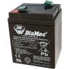 DIAMEC DM6-4.5 akkumulátor biztonságtechnikai rendszerekhez és elektromos játékokhoz