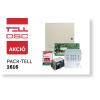 DSC PC1616 központ fém dobozban, táppal, PK5516 LED kezelővel, Compact GSM II-vel