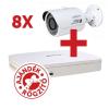 Dahua PACK-V8-HFW1000S 8 db HFW1000S kamera, NVR4108 rögzítővel