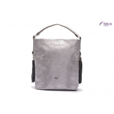 Ezüst színű, tágas Felice Bolsa táska