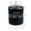 MAHLE ORIGINAL (KNECHT) MAHLE ORIGINAL OC261 olajszűrő