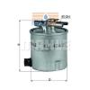 MAHLE ORIGINAL (KNECHT) MAHLE ORIGINAL KL404/25 üzemanyagszűrő