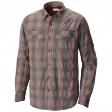 Columbia Silver Ridge Plaid Long Sleeve Shirt Ing D (1441321-p_611-Red Element)