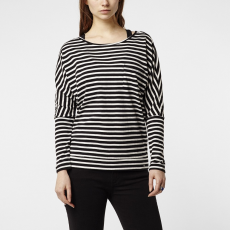 O'Neill LW Jack's Base Striped Top T-shirt,top D (O-657160-p_9910-BLACK AOP W_ WHITE)