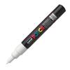 Dekormarker UNI POSCA PC-1M 0.7-1 mm, kúpos, FEHÉR