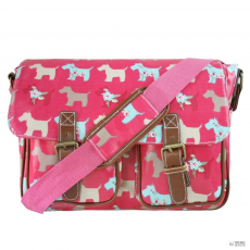 L1107DG - Miss Lulu London Oilcloth táska Scottie Dog Plum