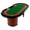 Royal Flush XXL pókerasztal, 213 x 106 x 75cm, zöld