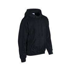 GILDAN bélelt kapucnis pulóver, fekete