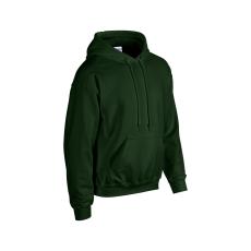 GILDAN bélelt kapucnis pulóver, sötétzöld