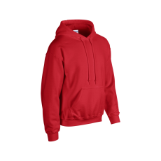GILDAN bélelt kapucnis pulóver, piros