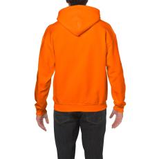 GILDAN bélelt kapucnis pulóver, biztonsági narancs