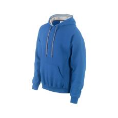 GILDAN pulóver bélelt kapucnival, kék/szürke