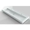 Riho Bologna 140x48 cm 1 medence 2 csaplyuk öntött márványmosdó