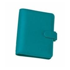 FILOFAX Kalendárium, gyűrűs, betétlapokkal, personal méret, FILOFAX Saffiano, aquamarine naptár, kalendárium