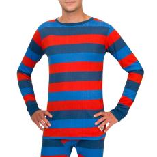 Woox Thermo póló Woox Bodyheat Stripy fér.