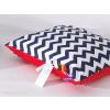 Prémium Minky párna - Kék cikk cakk piros