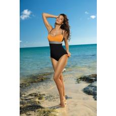 marko Egyrészes fürdőruha Whitney Nero-Calendula-Fango M-253 narancs-fekete