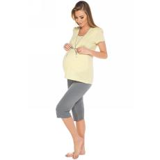 italian-fashion Kismama pizsama női Felicita 3/4 sárga