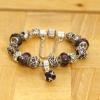 Love Eternal Jewelry Co.,LTD Ezüst lila kristály karkötő