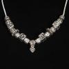 BAMOER Jewelry Tibeti ezüst nyaklánc állat motívumokkal, szív medállal