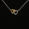 BAMOER Jewelry Sterling ezüst nyaklánc dupla szív medállal