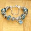 Love Eternal Jewelry Co.,LTD Ezüst türkizkék kristályos karkötő