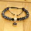 Love Eternal Jewelry Co.,LTD Állítható ásvány karkötő virág medállal