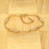 BAMOER Jewelry Arannyal bevont karkötő kristályokkal