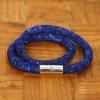 Yiwu Chanfar Jewelry Factory Duplasoros, mágneses, hálós kristály karkötő - sötétkék