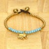 Love your grace Állítható türkiz elefántos karkötő
