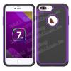 OTT! PROTECTOR mûanyag védõ tok / hátlap - LILA - csúszásgátlós hátlap, szilikon betétes, ERÕS VÉDELEM! - APPLE iPhone 7 Plus (5.5)