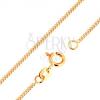 Nyaklánc sárga 18K aranyból - sűrűn összekapcsolt, lapos, ovális szemek, 500 mm