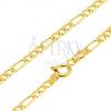 375 arany nyaklánc - egy hosszúkás és három ovális szem, 500 mm