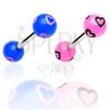 Nyelv piercing - rajzolt szívecskék