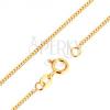 9K arany nyaklánc - sűrűn összekapcsolt, lapos, ovális szemek, 500 mm