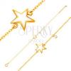 585 arany karkötő - fehér fénymázas csillag, cirkónia átlátszó színben