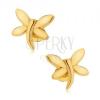 Beszúrós fülbevaló, arany színű szitakötő