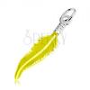 925 ezüst medál, gravírozott toll, neonsárga fénymáz