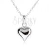 Nyaklánc 925 ezüstből - lánc és kidomborodó egyenletes szív alakú medál