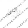 925 ezüst nyaklánc - keskeny ovális szemek, 2,6 mm