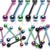 Anodizált nyelvpiercing titániumból - többféle színben