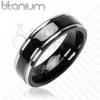 Titánium gyűrű - fekete sáv