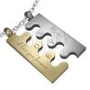 Nemesacél medál - ezüst és arany Puzzle