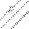 925 ezüst nyaklánc - egyszerű ovális szemek, 1 mm