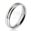Gyűrű 316L acélból, két lekerekített karika, 6 mm
