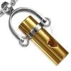 Medál acélból - arany színű henger, szív alakú kivágás